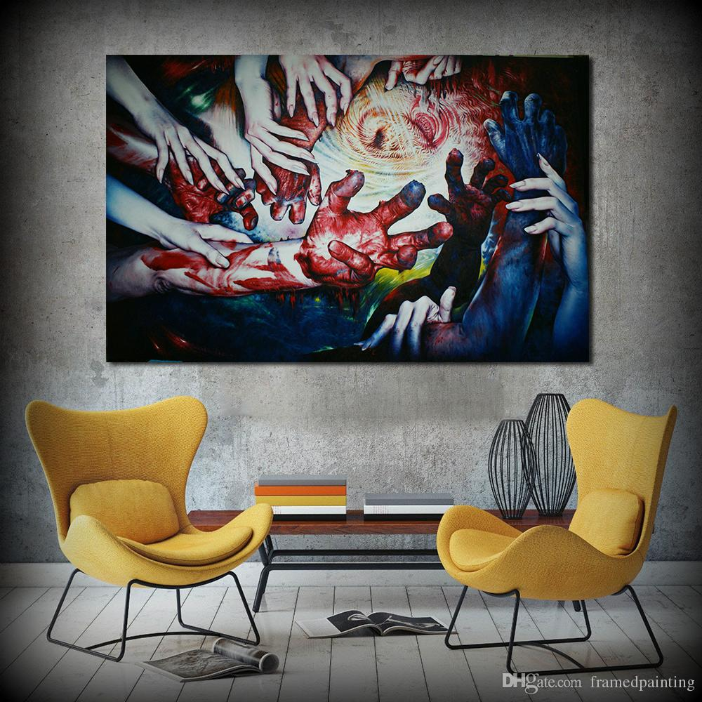Scenic 2018 Hand Hing Hands Abstract Wall Art Home Decor Canvas Printpainting Living Room No Frame From 2018 Hand Hing Hands Abstract Wall Art Home Decor Canvas art Abstract Wall Art