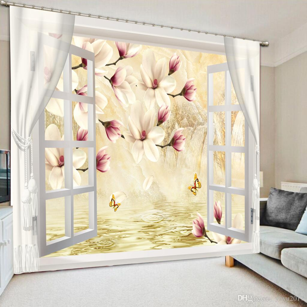 Cheap Stylish Curtains Modern Simple And Stylish Stereoscopic 3d Curtains For Room Living Room Office Hotel Blackout Curtain Window Decoration