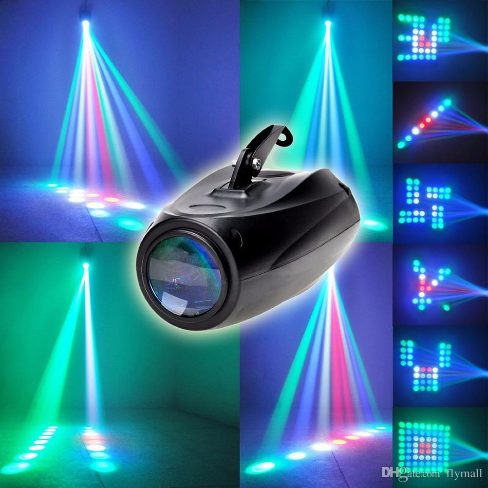Light Projector Magic Pattern Change 64 Led Rgbw Moon Flower Laser Stage Light Projector Black Music Show For Disco Dj Party Bar Ktv Wedding Lights