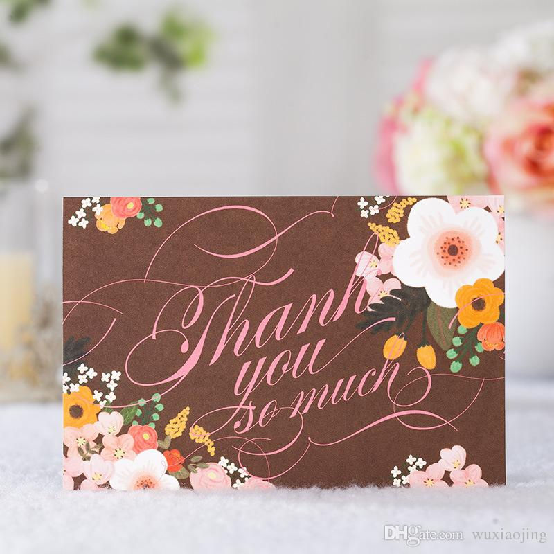 Floral Thank You Cards With Envelope Coffee Thanksgiving Folded - rsvp e cards
