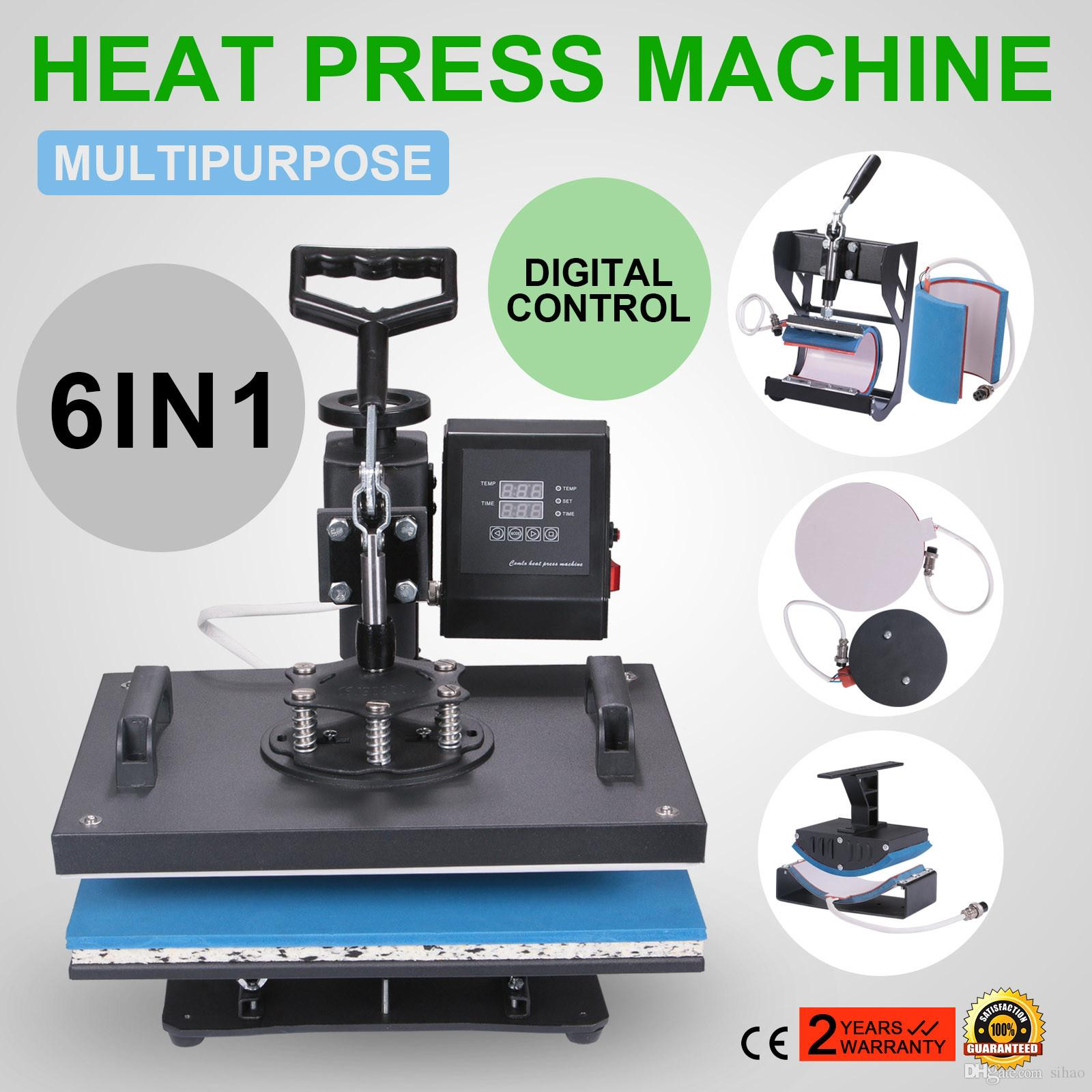 Sublimation Press 6in1 Heat Press Machine Digital Transfer Sublimation For T Shirt Mug Hat Phonecase
