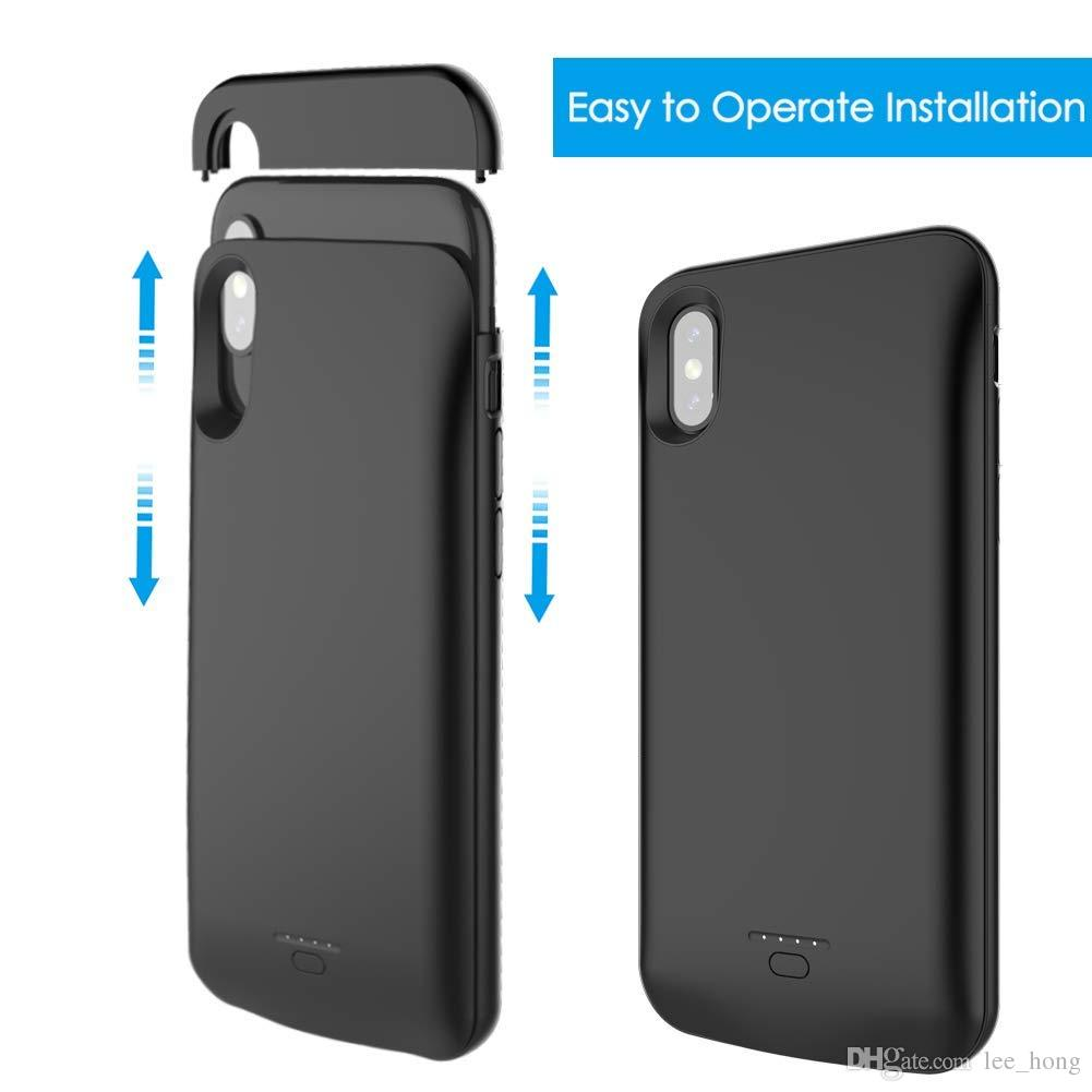 Battery Case For Iphone X Hot Selling Battery Case For Iphone X Xs 4000mah Portable Power Charging Case For Iphone 5 7 8 6plus 8plus Xr Xs Max
