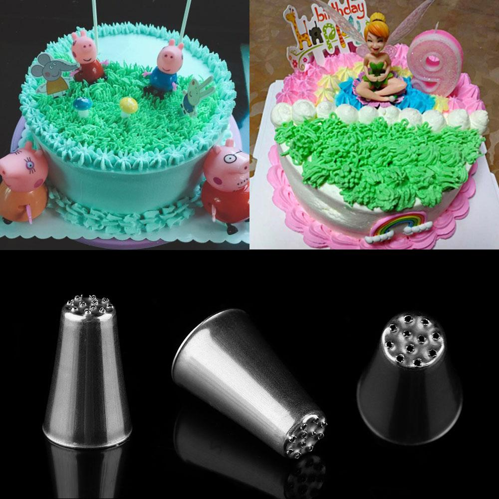 Décoration De Cupcake Diy Grass Cream Icing Nozzles Stainless Steel Pastry Fury Decoration Cupcake Head Cake Decorating Tip Piping Pastry Cupcake