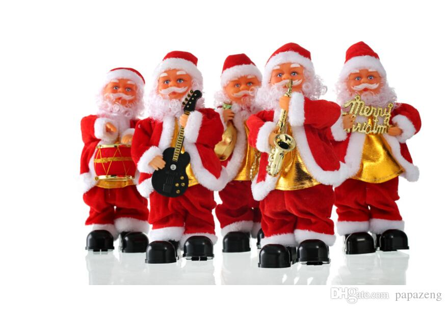 2019 Wholesales Blowing Saxophone Christmas Music Old Man Electric
