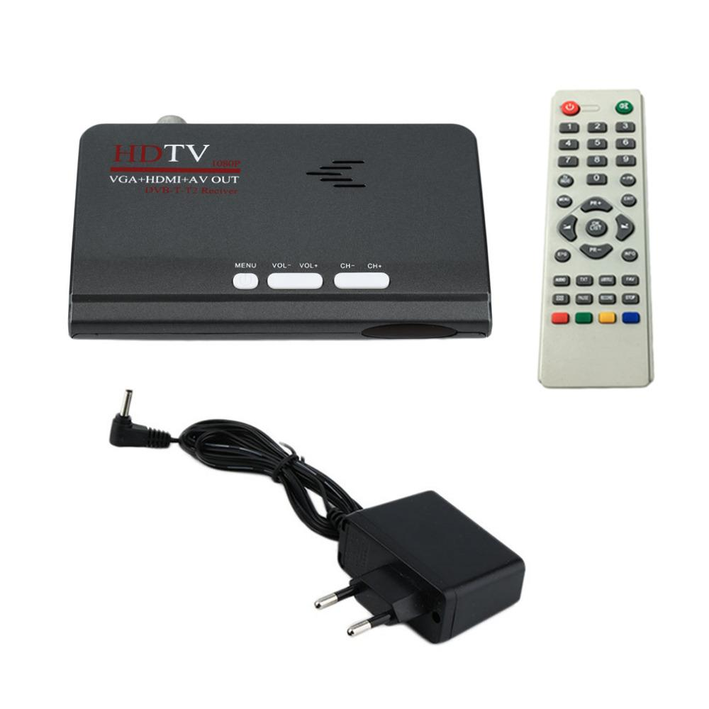 Tv Digitale Freeshipping Digitale Terrestrial Hdmi 1080 P Dvb T T2 Tv Receiver Vga Av Cvbs Tuner Ontvanger Met Afstandsbediening Hdmi Hd 1080 P Vga