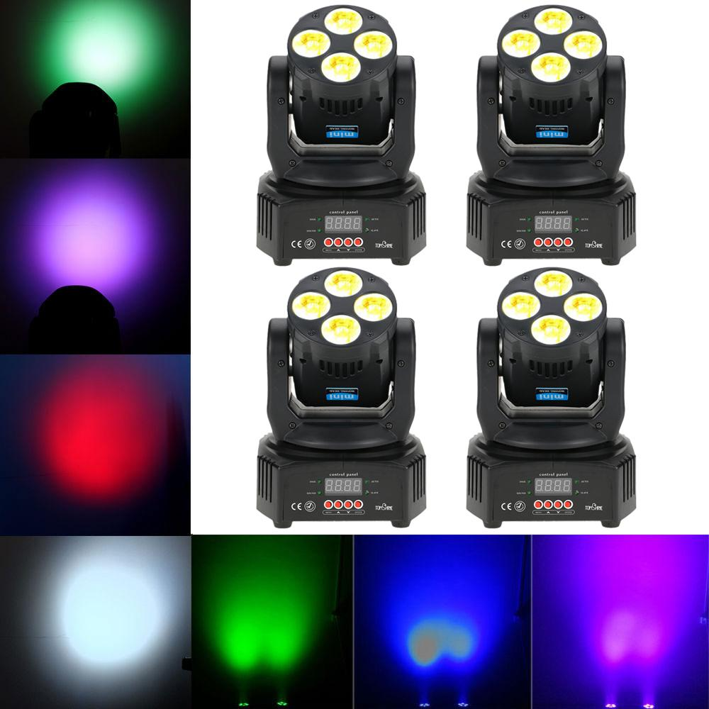 Led Disco Beleuchtung Dmx512 Master Slave Disco Lighting Led Stage Light Dj Christmas Uv 6 In1 Washing Effect Moving Head Stage Light Party Projector