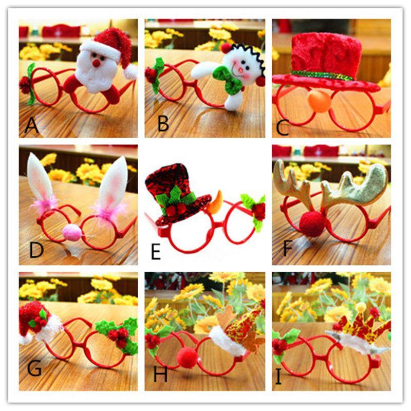 New Festive Christmas Ornaments Glasses Frames Decor Evening Party