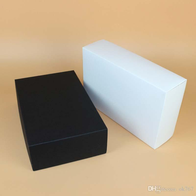 28*18*8cm Large Black White Paper Gift Box Big Gift Kraft Cardboard