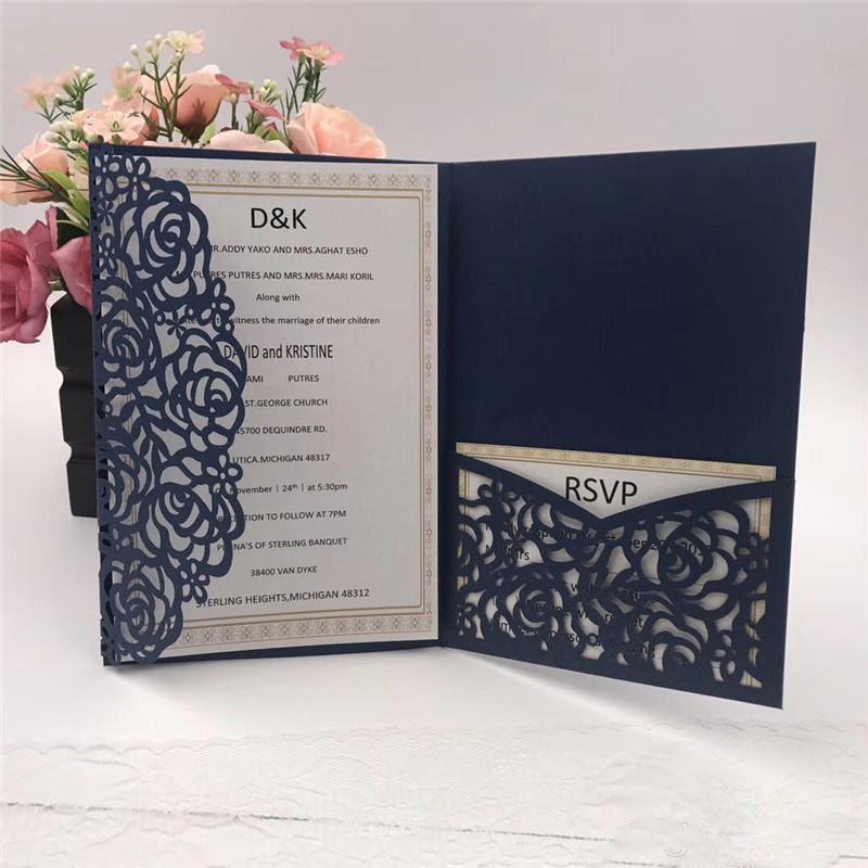 foldable wedding invitation