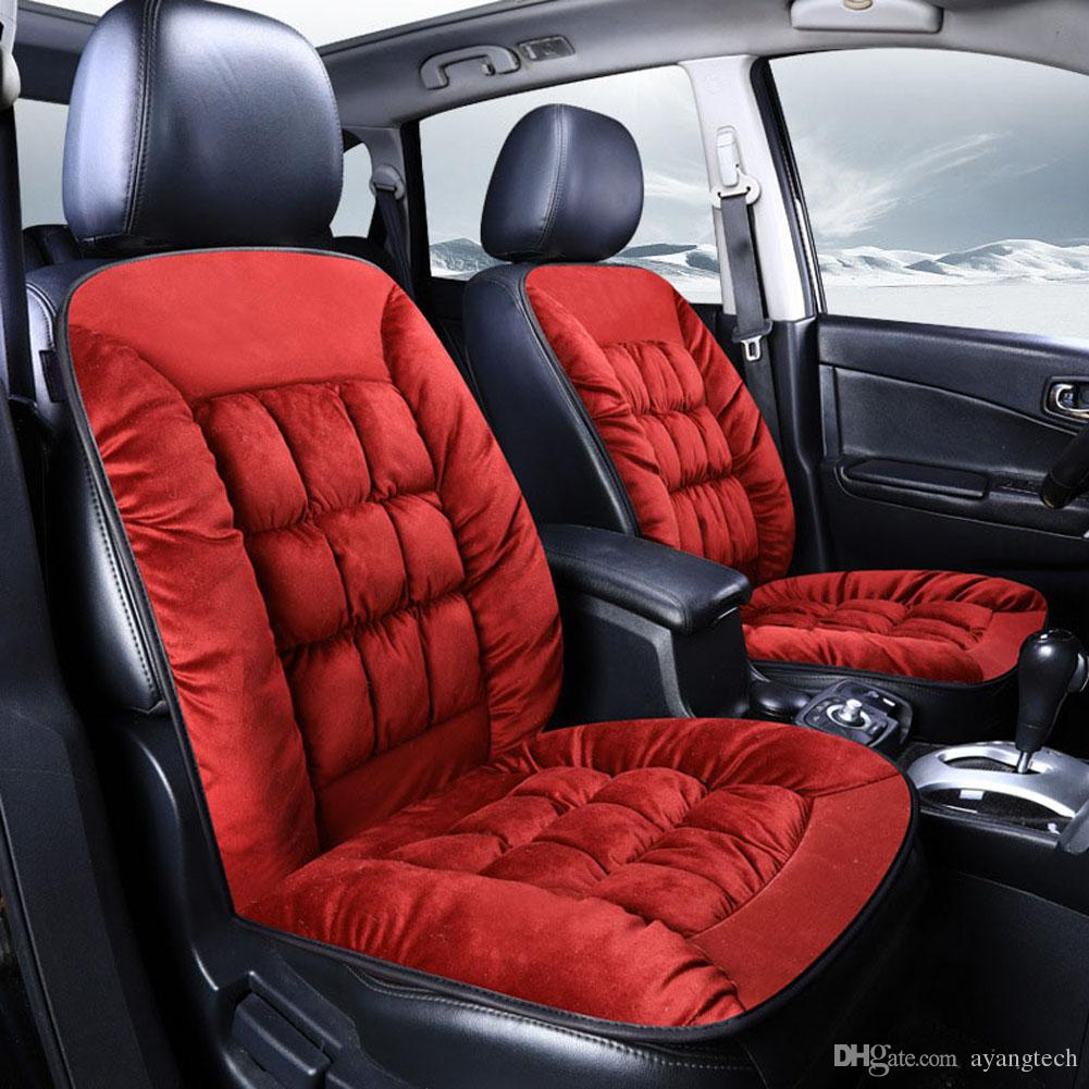 Car Seat Cushions Australia Warm Soft Velvet Plush Fabric Auto Seat Cushion Auto Seat Protector Chair Mat Pad Universal Jeep Suv Sedan Seat Cover 1pc