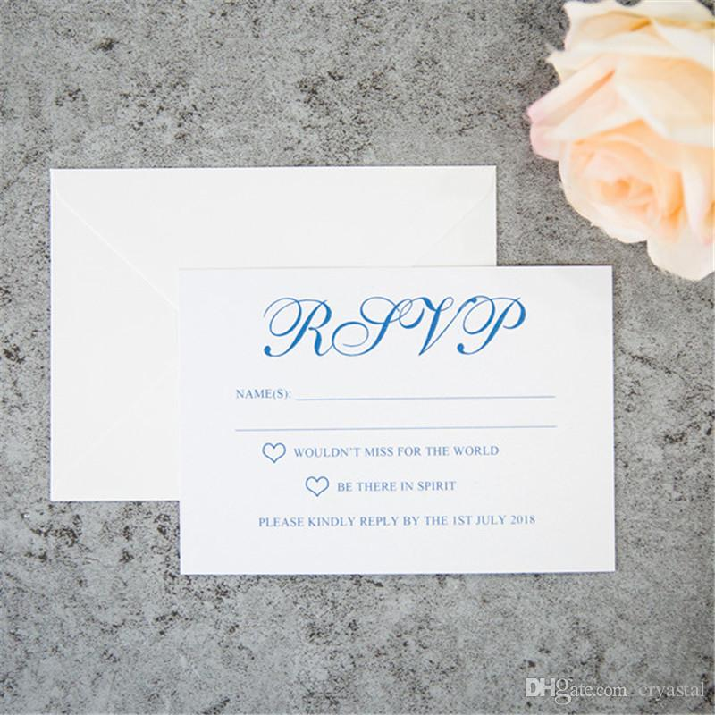 2018 Specially Personalized RSVP Card/Response Card/Reception Card