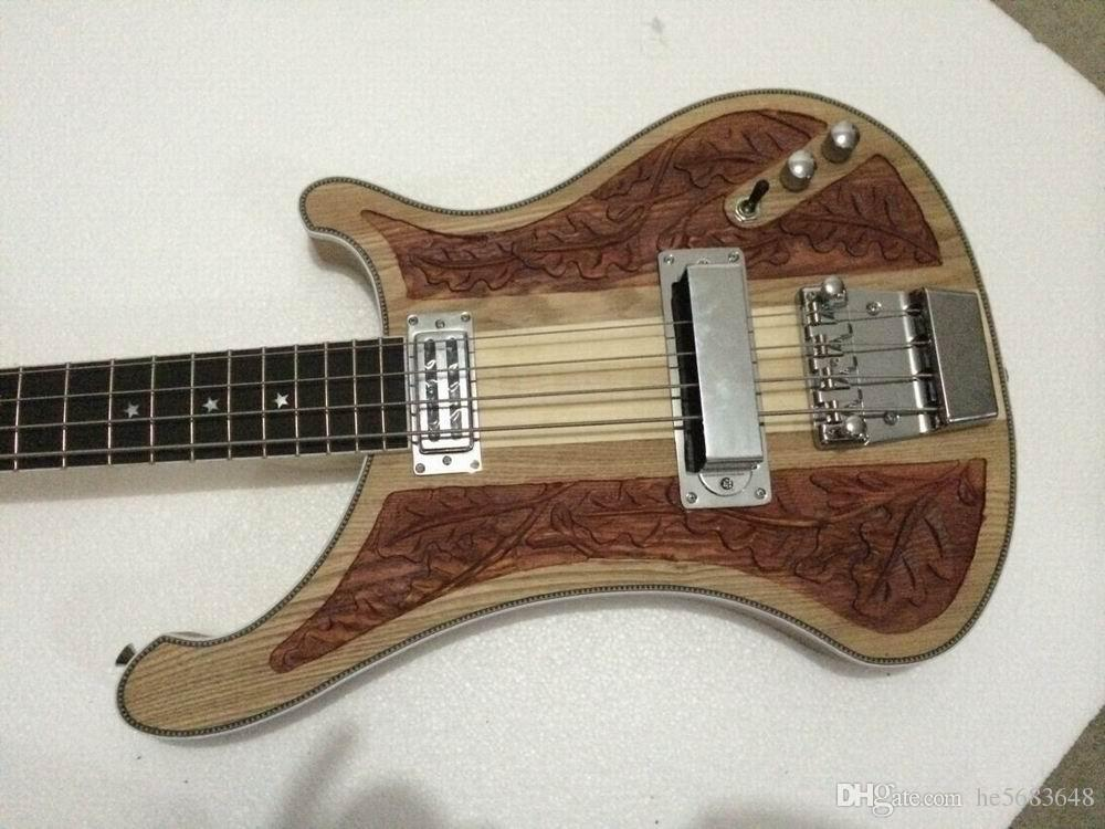 Wholesale 4 String 4004 Electric Bass Guitar Carved Flower Body