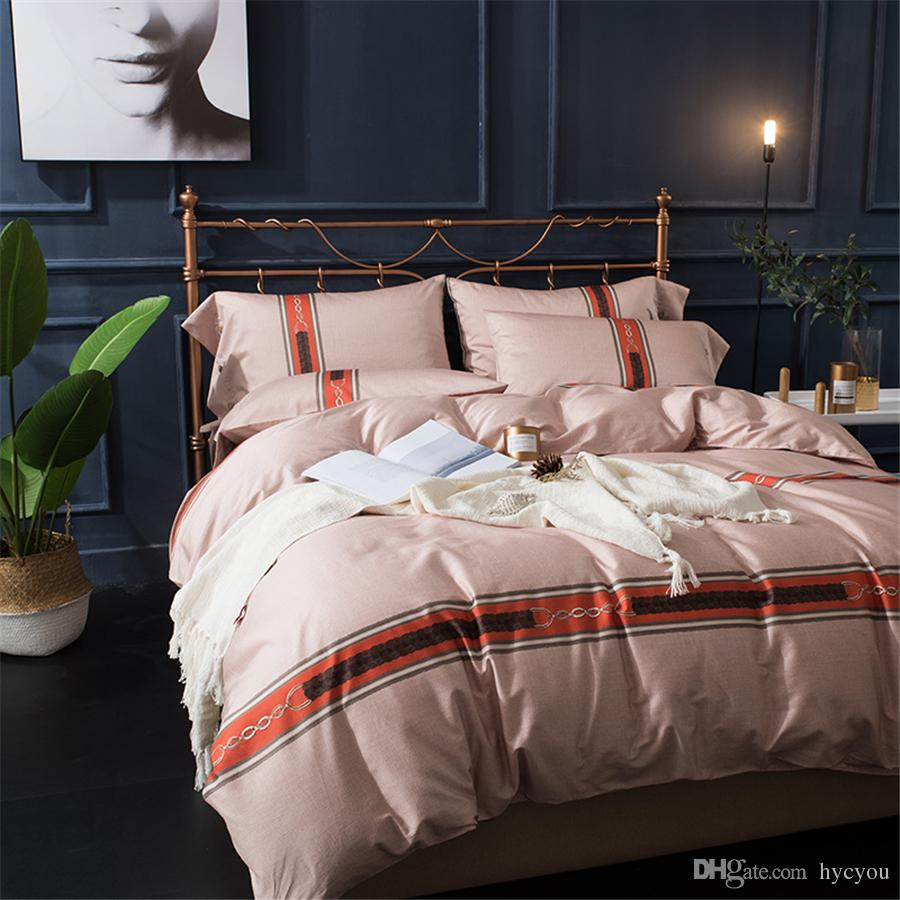 Modern Duvet Bedding Set 4pcs Egyptian Cotton Duvet Cover Quilt Cover Bedsheet Home Textile Promotion