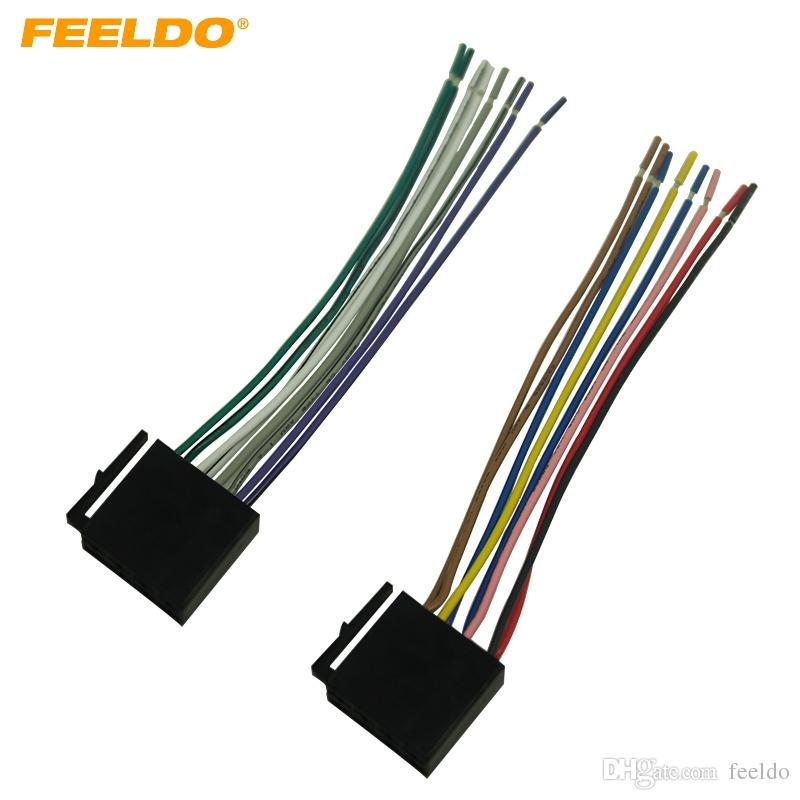 2019 FEELDO Car Audio Stereo Wiring Harness For Volkswagen/Audi