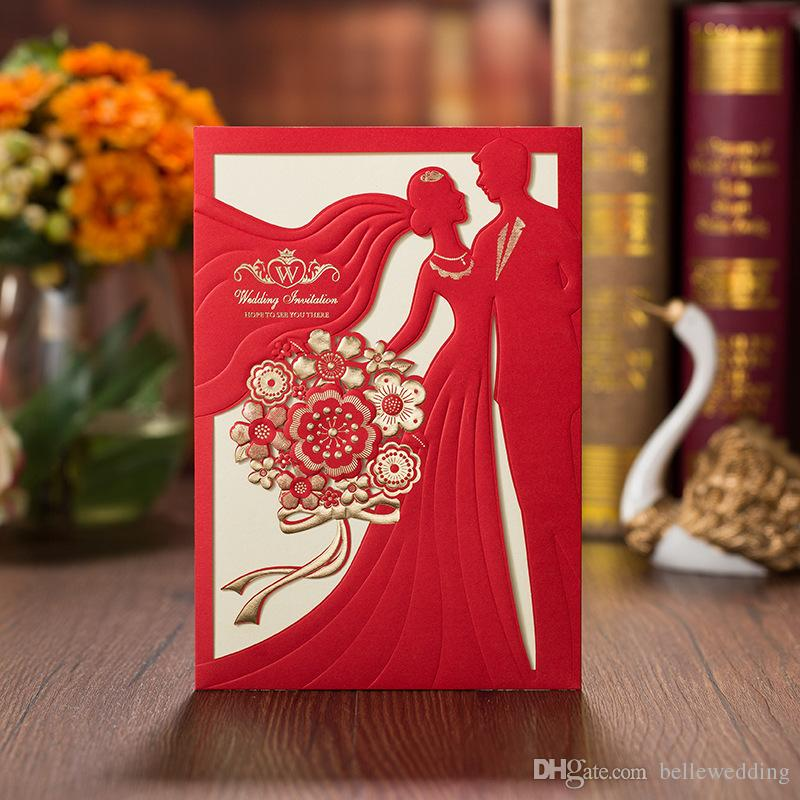 OEM Laser Cut Wedding Invitations Free Printing Wedding Invitation