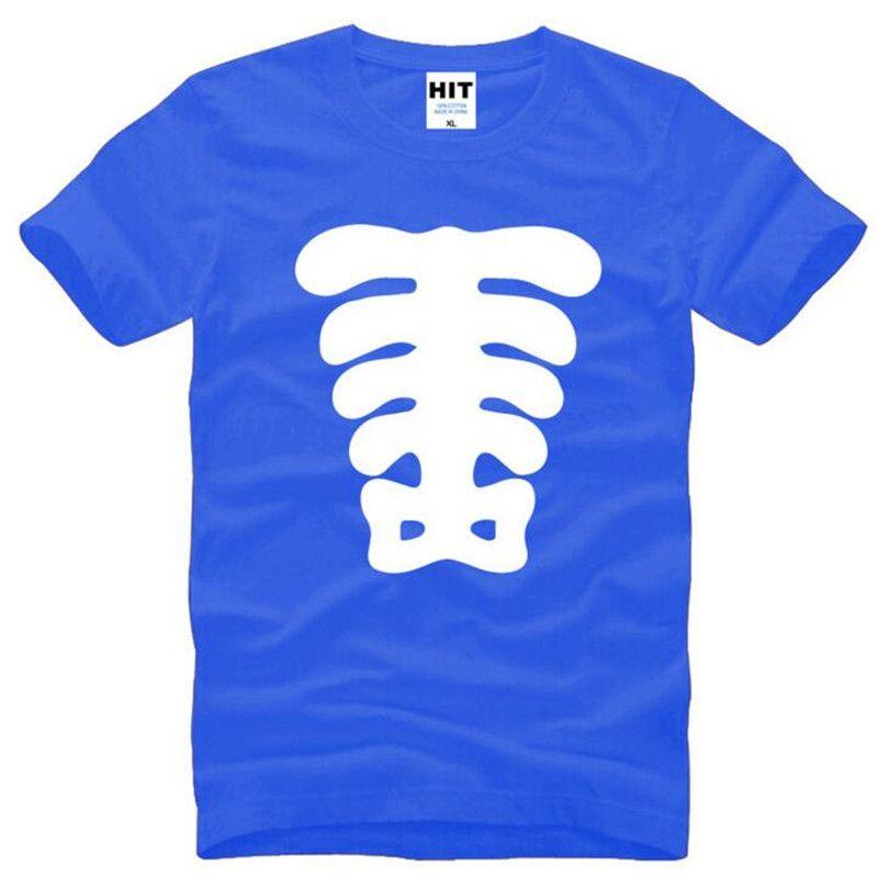 Creative Mud Pie Skeleton Printed T Shirts Men Summer Style Short
