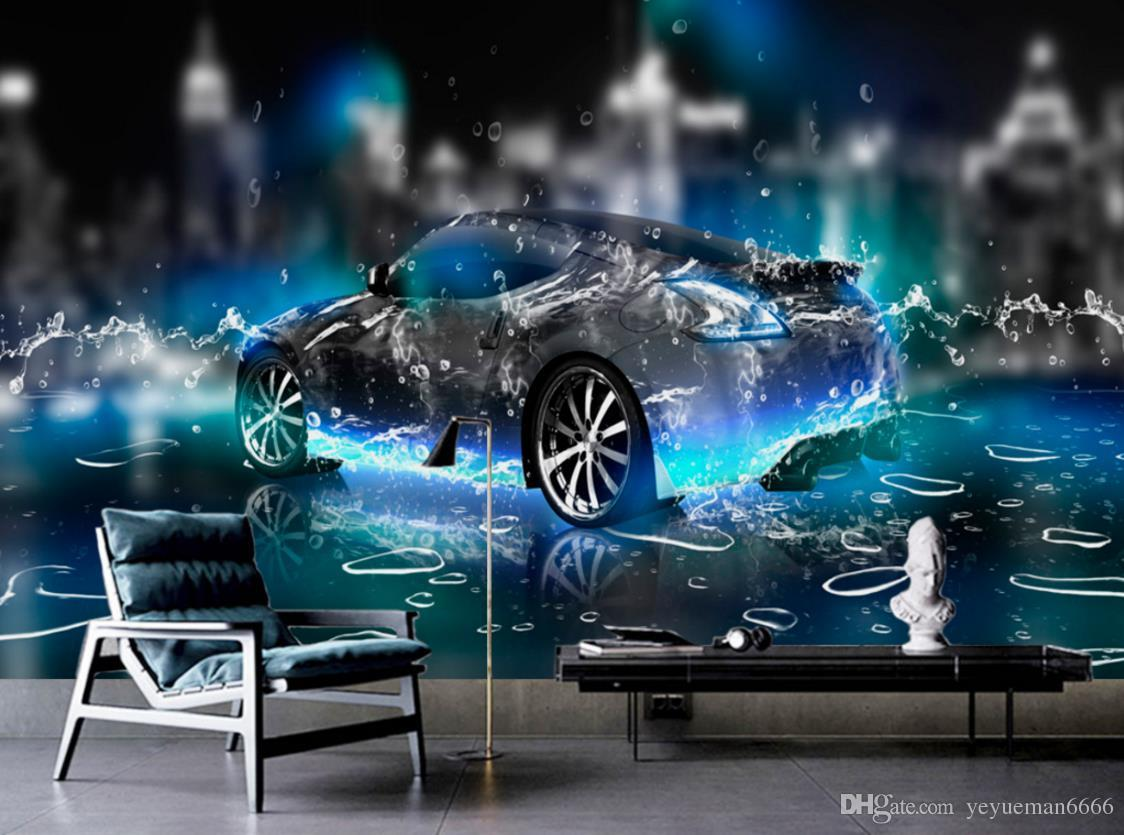 Race Car Bedroom Wallpaper Murals Hd Wallpaper For Bedroom Walls Water Sports Car 3d Wall