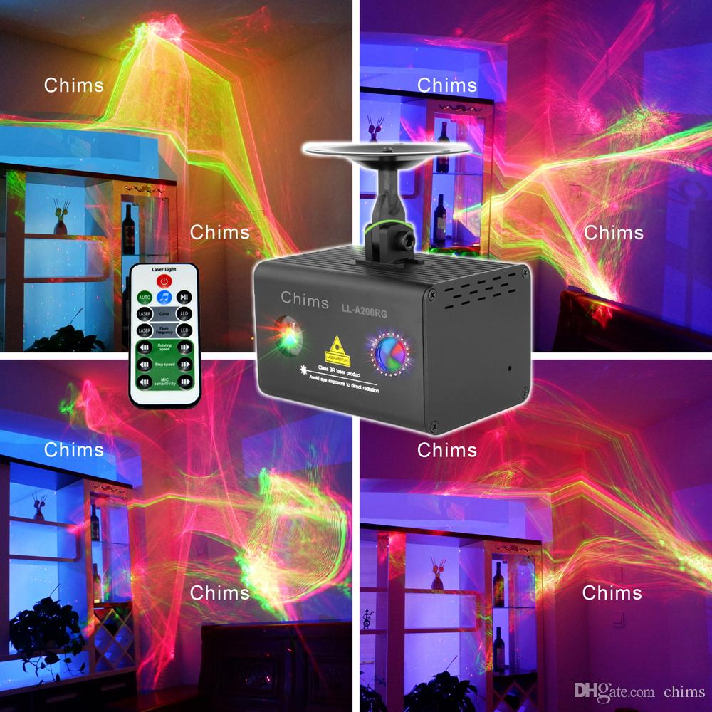 Lighting Rgb Chims Home Party Laser Light Rgb Led Galaxy Professional Projector Aurora Effect Decorate Disco Stage Xmas Party Dj Event Ll A200rg