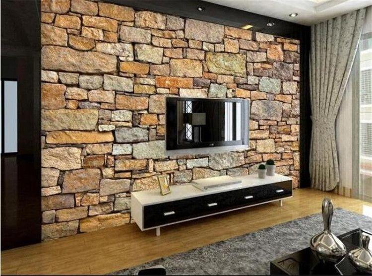 3d Faux Stone Wallpaper Murales De Pared 3d Naturaleza Wallpaper Brick Wall For