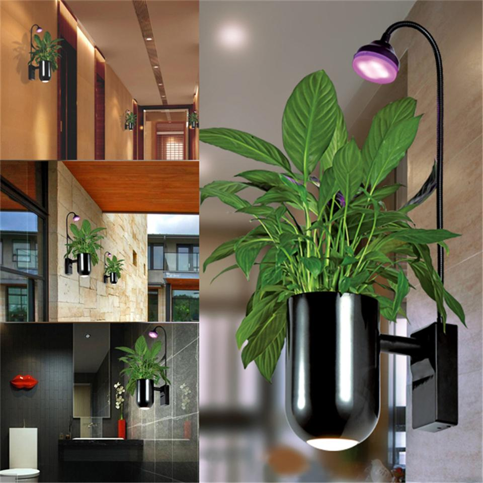 Lamp Plant Led Grow Light Indoor Flower Led Wall Lamp Make Oxygen Intelligent Planting Flowers Decoration Garden Bedroom Living Room Balcony Hot