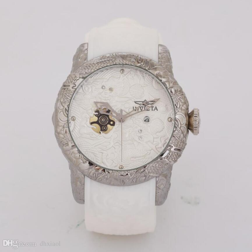 High Quality White Dial With Flywheel Design Male Luxury Watches