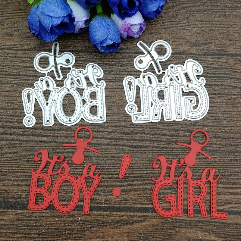 2019 Baby Boy And Baby GIRL Metal Cutting Dies Frame Craft Cutting