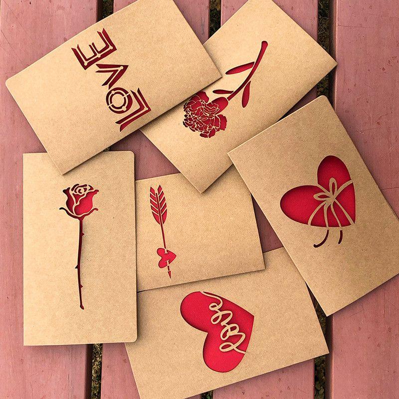 Valentine\u0027S Day Cards For Couple Creative Vintage Kraft Paper