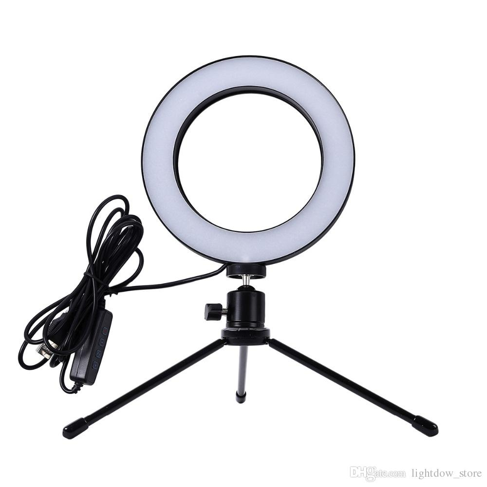 Ring Licht 2018 Neue Mini Foto Studio Led Kamera Ring Licht Dimmbare Telefon Video Phtography Lampe Mit Stativ Selfie Stick Für Live Make Up Beleuchtung
