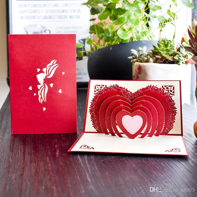 Workmanship Wedding Festive Greeting Card Party Supplies Exquisite