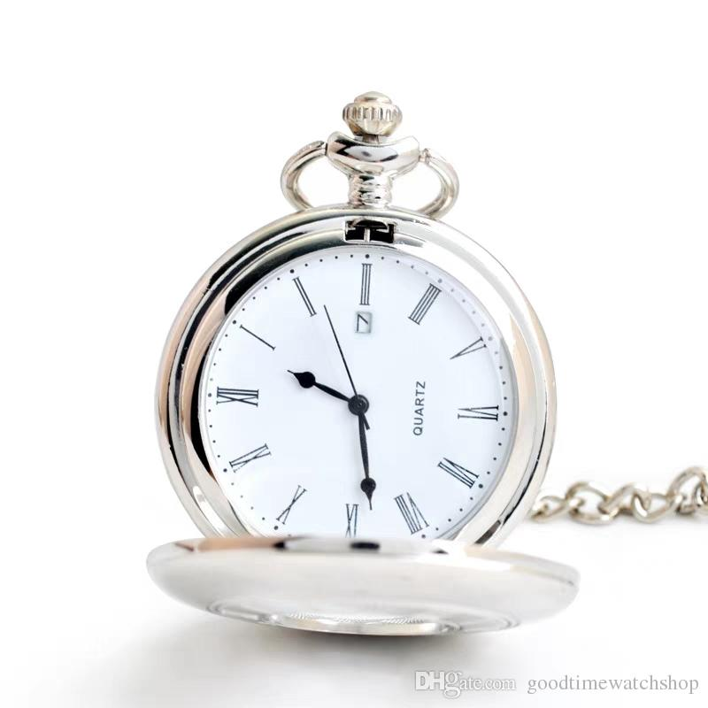 Classic Retro Pocket Watch Hollowed Out Roman Non Mechanically