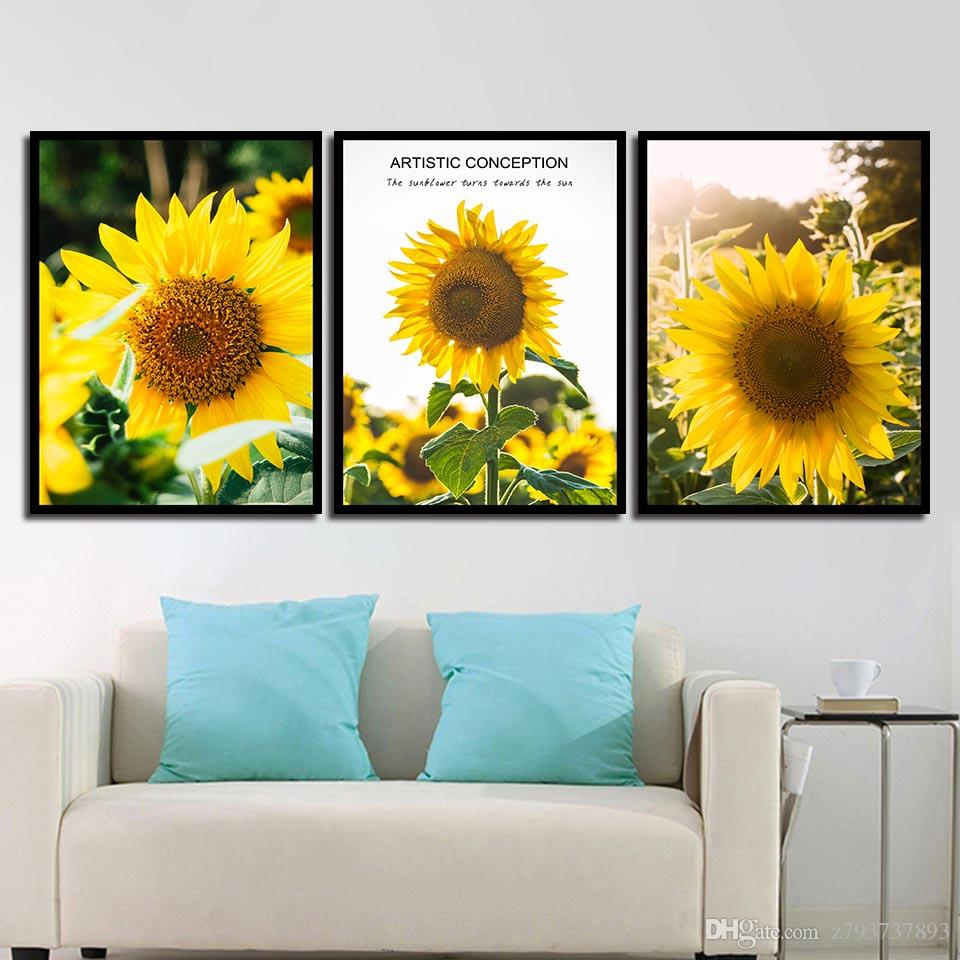 Art Decoration Conception Nordic Style Canvas Art Hd Print Painting Minimalist Beautiful Sunflower Landscape Poster Wall Pictures For Home Wedding Decor