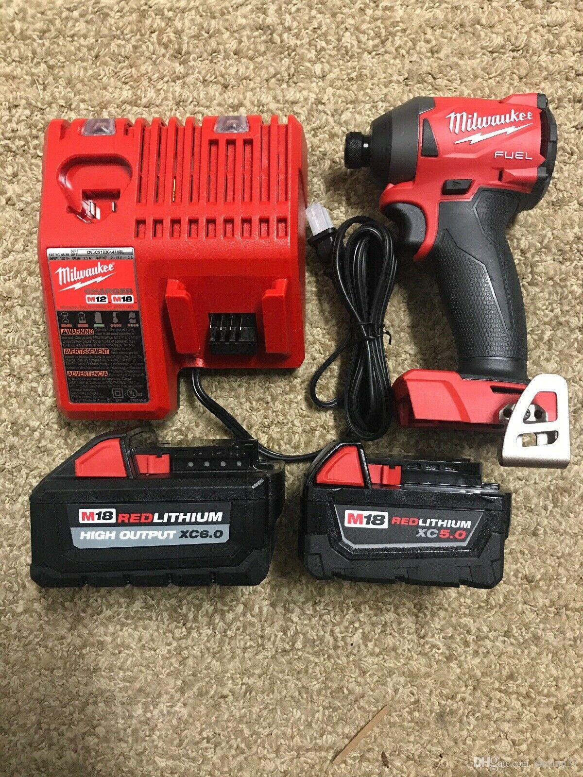 Milwaukee M18 Battery Milwaukee 2853 20 M18 Fuel 1 4 Impact Driver 2 Batteries Charger