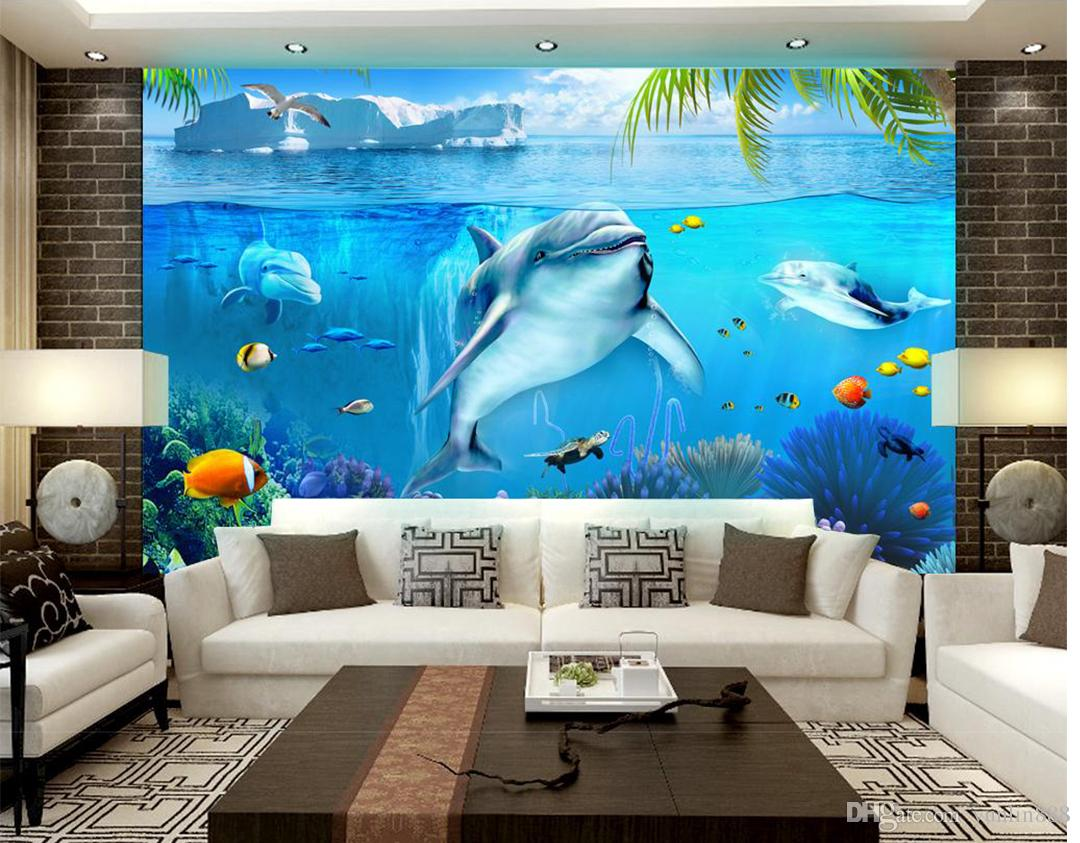 Decoration 3d Murale 3d Wallpaper Three Dimensional Underwater World 3d Living Room Bedroom Background Wall Decoration Mural Wallpaper