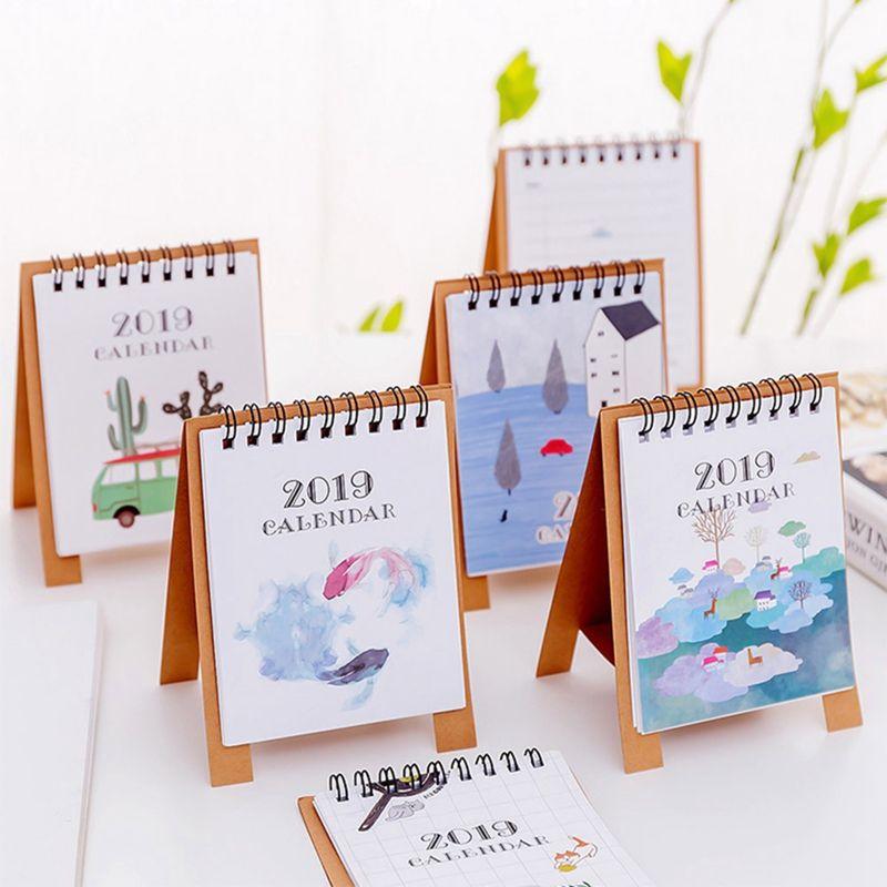 2019 Calendar Drawing 20189 2019 12 Cartoon Mini Flamingo Desktop