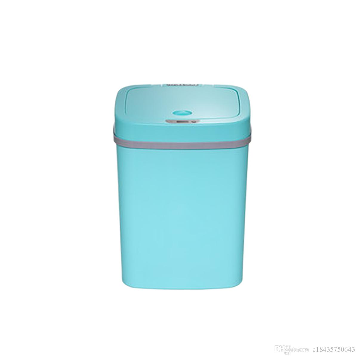 Garbage Bin 12l Automatic Trash Can Touchless Intelligent Induction Garbage Bin With Inner Bucket Contactless Circulator Quiet Lid Close Can Yellow