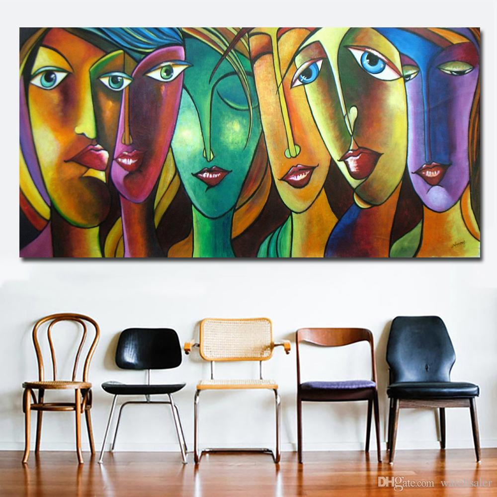 Abstract Art Prints On Canvas 1 Panel Abstract Art Colorful Girl Canvas Paintings Wall Art Prints On Canvas Printing Posters Wall Picture For Living Room No Frame