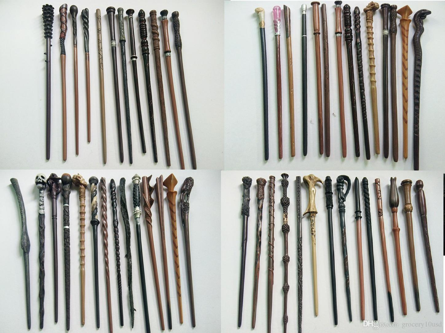 Magic Wand Harry Harry Potter Metal Core Magic Wand 58 Styles With Magic Box Hermione Dumbledore Snape Sirius Halloween Christmas Magic Gift