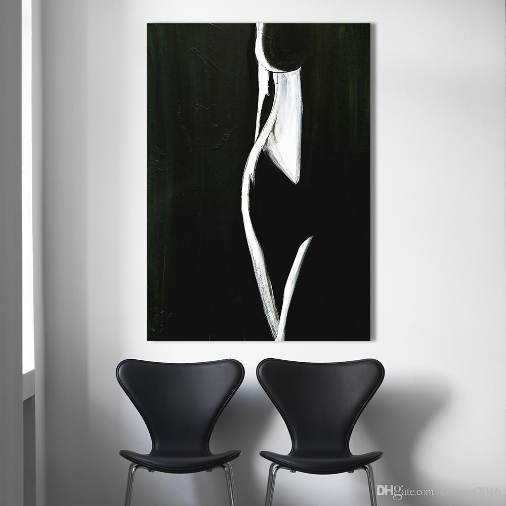 Black And White Canvas Pictures 1 Pcs Wall Art Pictures For Living Room Home Decor Modern Nude Painting Female Form Black White Canvas Art Painting No Frame