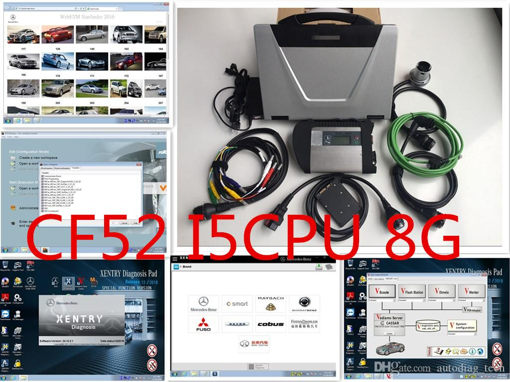 Mb So For M Ercedes Star Diagnostic Tools For Mb C4 With Expert Mode 360gb Ssd Soft Ware With Cf 52 I5 8g Laptop Ready To Work