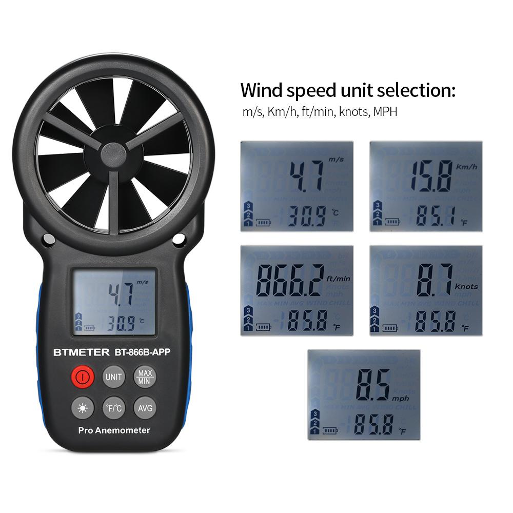 Thermometer Australia Digital Anemometer Thermometer Anemometro Handheld Wind Speed Meter Weather Meter Wind Speed Temperature Meter