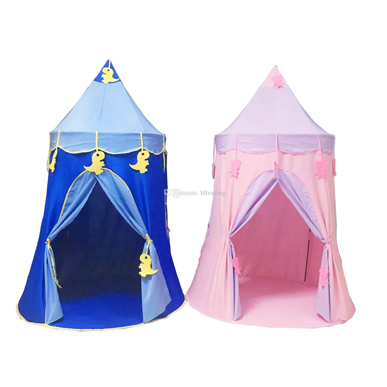 Kids Play Tent Children Kids Play Tents Outdoor Folding Portable Toy Tent Indoor Outdoor Hexagonal Castle Princess Prince Wigwam Yurts C6233