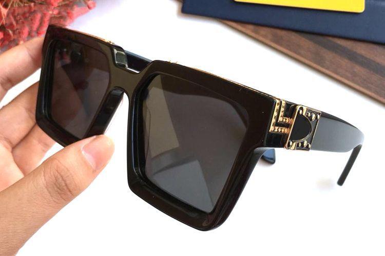 Luxury Millionaire Square Sunglasses Full Frame Vintage Designer