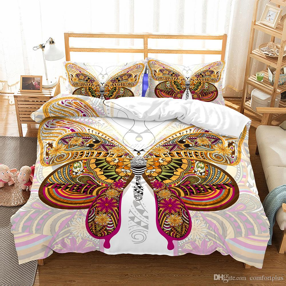 Buy Duvet Cover New 3d Butterfly Sea Shell Design Bedding Set 2pc 3pc Duvet Cover Set Of Quilt Cover Pillowcase Twin Full Queen King Size
