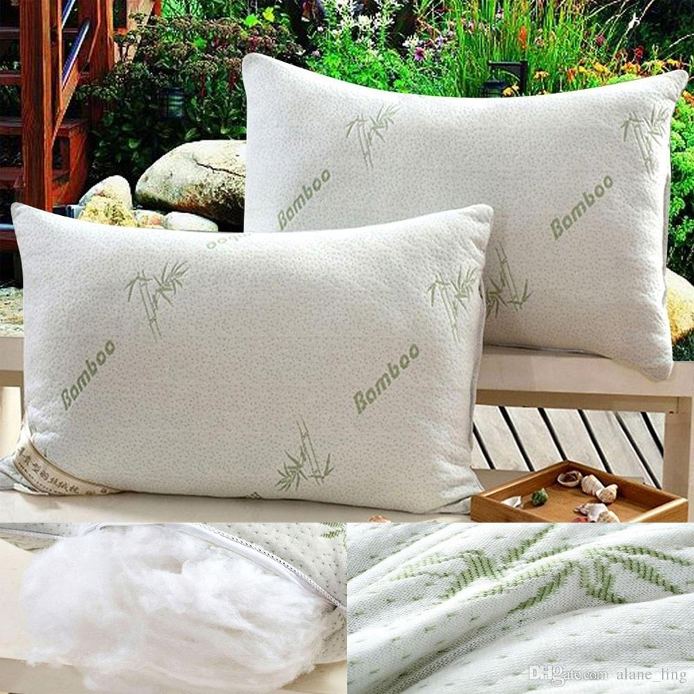 Standard Bed Pillows Perfect Memory Foam Sleeper Standard Queen Bed Bamboo Pillows Hypoallergenic 48 Cm X 74 Cm Cokor White