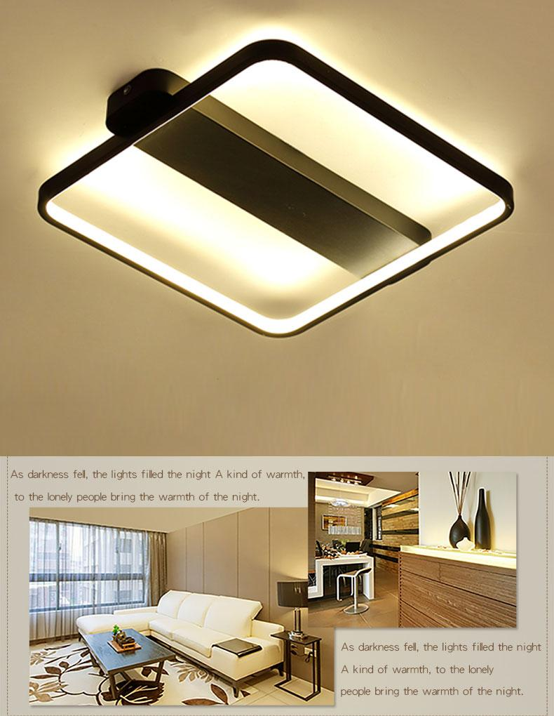 Luminaire Lighting Modern Led Ceiling Lamp Square Lighting Luminaire Black White Body For Living Room Bedroom Kitchen Lamparas Light Fixture