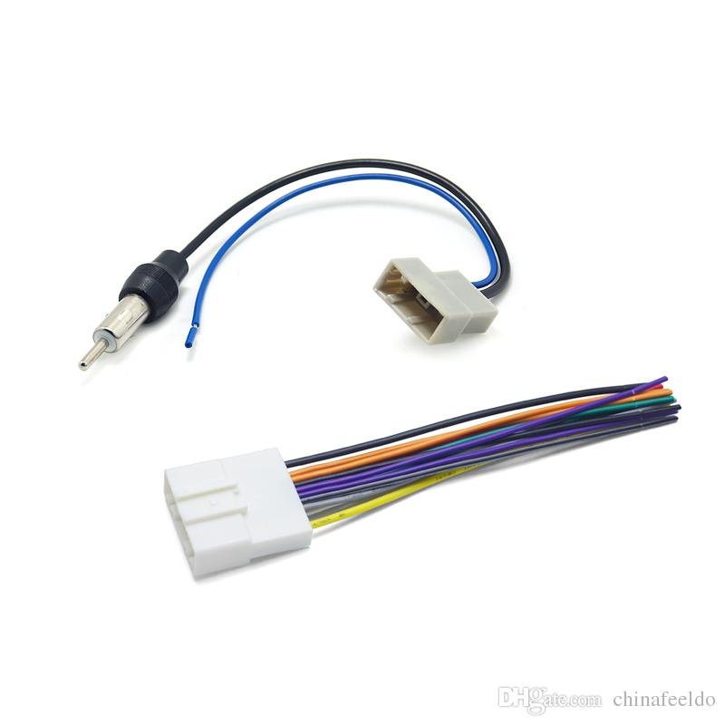 2019 Car CD Audio Stereo Wiring Harness Antenna Adapter For Nissan
