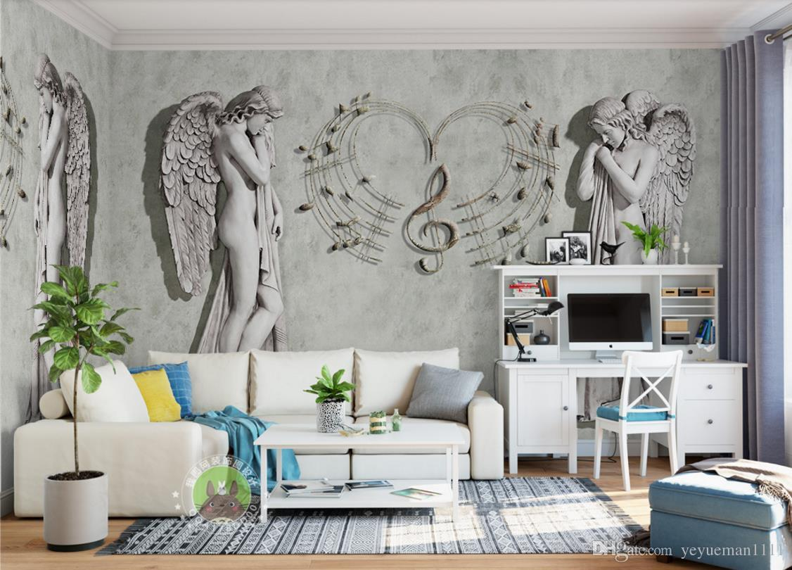 Wall Mural Ideas For Living Room Custom 3d Wallpaper Painting Home Decor Wall Murals Living Room Bedroom Brick Wallpaper European Angel Photo Wallpaper 3d