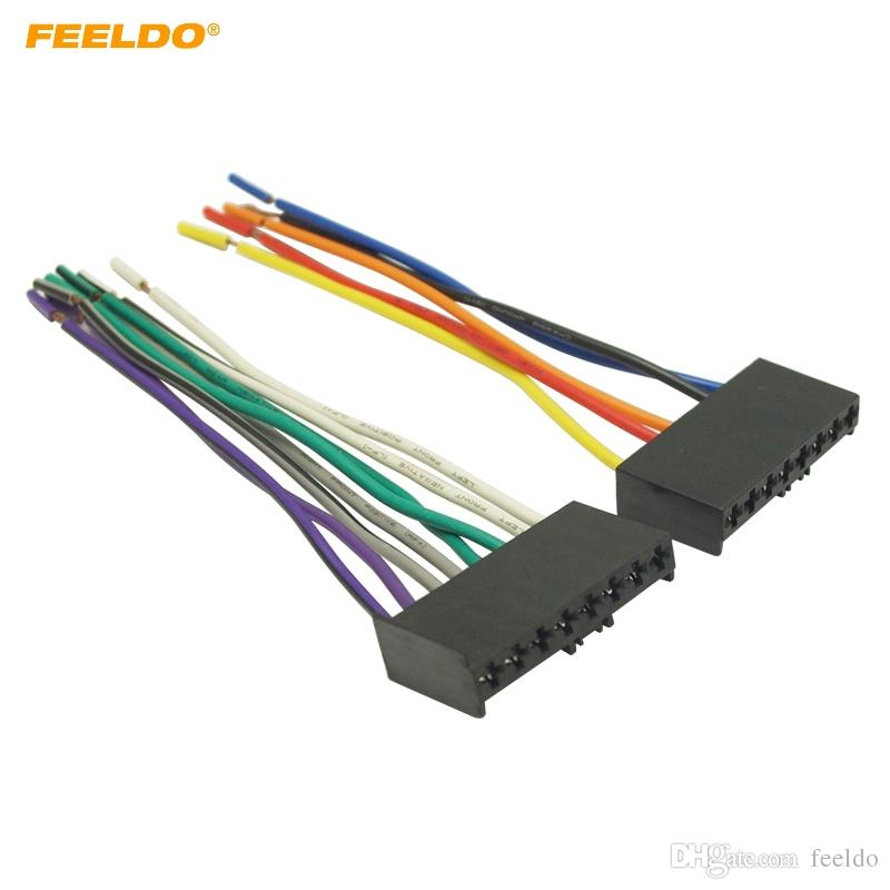 2019 FEELDO Car CD/DVD Audio Stereo Wiring Harness Adapter Plug For