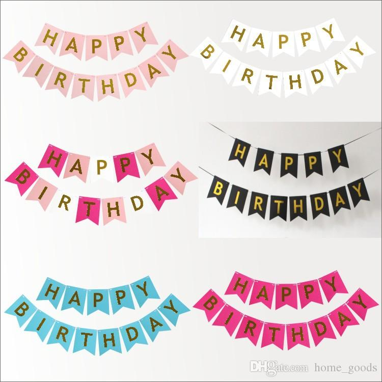 2019 Birthday Party Decorations Happy Birthday Letter Banners Flags