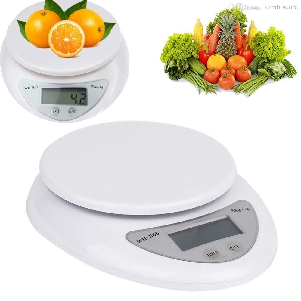 Waage Küche Digital Digitale Küche Food Scale 5 Kg 5000g 1g Digitalwaage Küche Lebensmitteldiät Post Gewicht Waagen Balance Weighting Tool Led Elektronische Waage